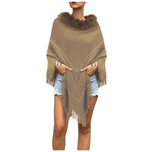 VJGOAL Damesjas, vrouwen effen elegant modieus wild kwast gordijn onregelmatig zoom gebreid vest gebreide vest gebreide goederen