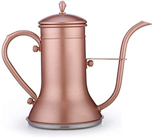 Het gieten van Coffee Pot theepot Giet over koffie Ketel RVS zwanenhals Tuit Fluitketel Drip Pot for Beginners and Coffee Work On Cooker Gasfornuis Elektrische keramische kookplaat Gooseneck, Kleur: R