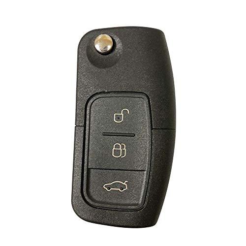 LAGE Ricambio Chiave per Telecomando Ford Focus Mondeo Fusion Fiesta Ka Kuga S-Max C-Max Galaxy Guscio con Lama a 3 Tasti