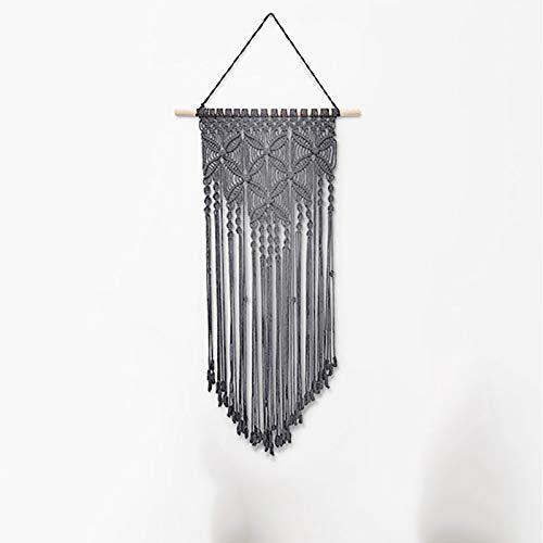 Scelet Makramee Wandbehang gewebte Tapisserie Boho Decor handgemachte Baumwollseil für Schlafzimmer Wohnzimmer Dekoration