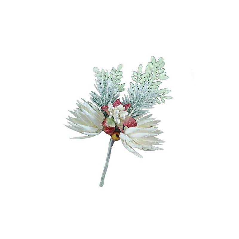 silk flower arrangements lily garden winter boutonniere corsage handmade christmas artificial flower (rich leaves)