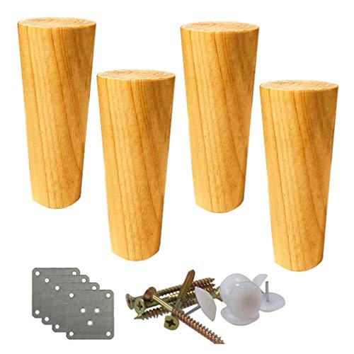 Patas de los muebles de mesa for trabajo pesado de bricolaje 4pcs sólidas patas de los muebles de madera, pies cónicos rectos Sofá, pies de madera del gabinete, patas de la mesa, las piernas de repues