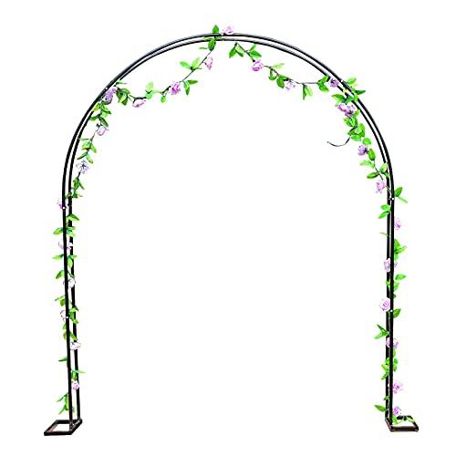 LIUU Rosenbogen Aus Metall Hochzeitsdekoration,Gartenbogen Für Verschiedene Kletterpflanzen Rose,Hortensie,Glyzinien,Leicht Zusammenzubauen(Schwarz)