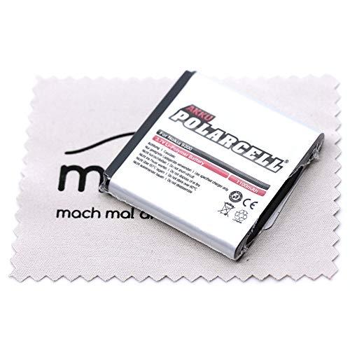 Batteria di ricambio per Nokia 3250 6151 6233 6234 6280 6288 9300 N73 N77 N93 (sostituisce la batteria originale BP-6M) Polarcell con panno per la pulizia dello schermo mungoo