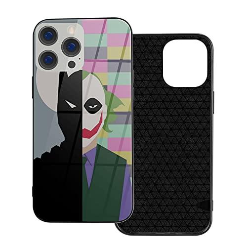 Compatible con iPhone 12 Funda Funny Bat-Man y C-Lown TPU+Funda de vidrio...