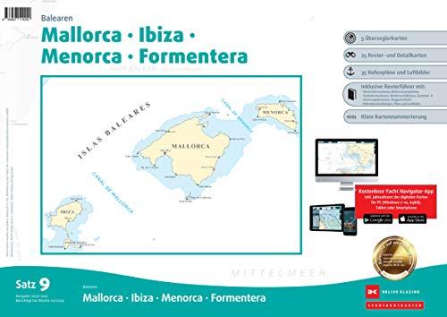 Sportbootkarten Satz 9: Balearen (Ausgabe 2020): Mallorca - Ibiza - Menorca - Formentera