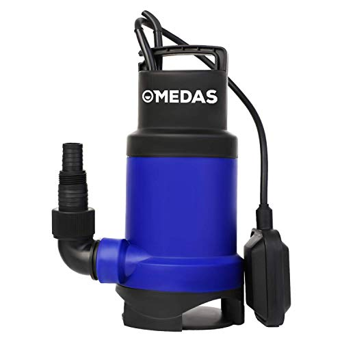 MEDAS 1HP 750W 3170GPH Sump Pumps Submersible Water Pump Sewage Water Pump w/Float Switch for Pool and Pond Draining in Dirty Water