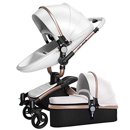 MAMINGBO Cochecito de bebé Carro de cuna Cochecito de cochecito de lujo de alto paisaje resistente a los golpes 3 en 1 for recién nacidos y niños pequeños (Color : E)