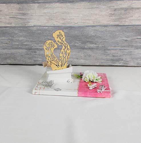 Geldgeschenk Hochzeit, Hochzeitsgeschenk, weiß rosa, Brautpaar