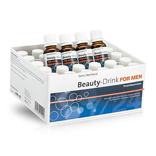 Sanct Bernhard Beauty Drink for Men, mit Kollagen-Peptiden (VERISOL), Hyaluronsäure, Vitaminen, Zink, Kupfer, Monatspackung
