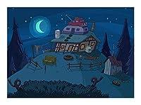 ジグソーパズル 漫画シリーズジグソーパズル木製大人の子供のパズルのおもちゃ創造的なギフト(300/500/1000個)-静かな夜 BBJOZ (Size : 300pcs)