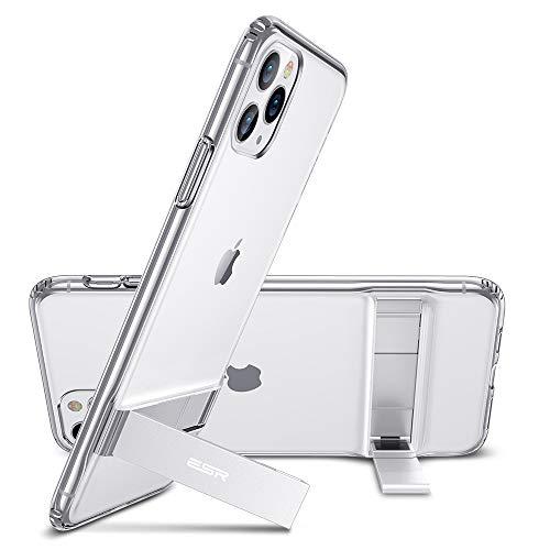 """ESR Funda con Kickstand Compatible con iPhone 11 Pro 5.8"""", Carcasa TPU con Soporte Metal Vertical y Horizontal, Anti-arañazos y Anti-gloples,Transparente"""