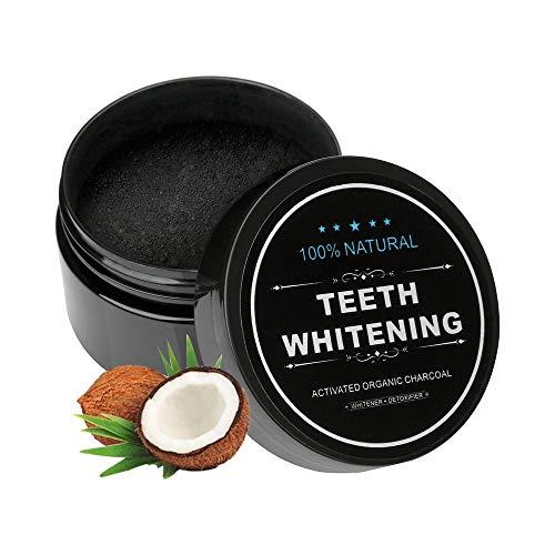 Aktivkohle Pulver Zahnaufhellung Natürliche Kokosnuss Aktivkohle Zahnpasta für Weiße Zähne Bleaching Activated Charcoal powder Teeth Whitening Zähne Aufhellen Zahnpasta