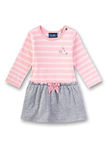 Sanetta Baby-Mädchen Dress Knitted Kleid, Rosa (Lolly 3053), 62 (Herstellergröße: 062)