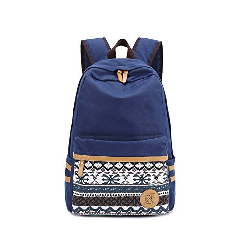 Best Backpacks, MiCoolker Fashion Ethnic Cool Cute Laptop Backpack College Students Book Bag Casual Travel Backpack Blue