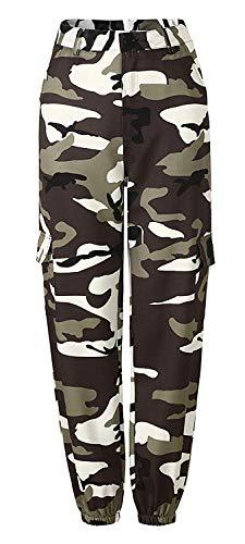 Dames camouflage broek elegante vintage young sportbroek losse modieuze beweging modieuze completi fitness leger training hoge taille joggingbroek vrijetijdsbroek