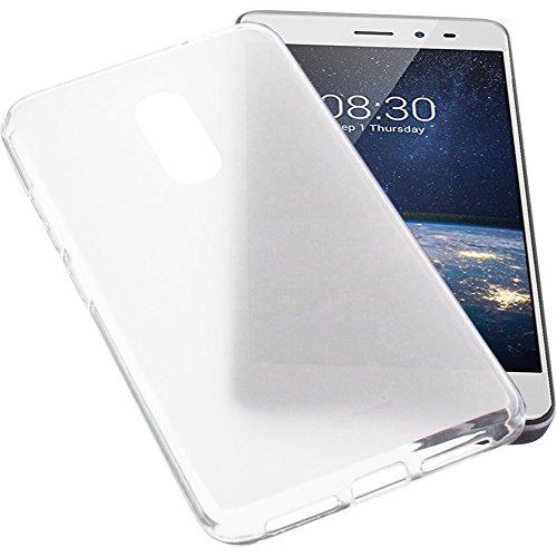 foto-kontor Tasche für TP-Link Neffos X1 Lite Gummi TPU Schutz Handytasche transparent