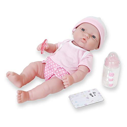 JC Toys - La Newborn Babypuppe, rosa (18344)