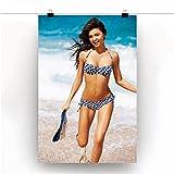 FGVB Poster Miranda Kerr Bikini Modell Wandkunst Bild