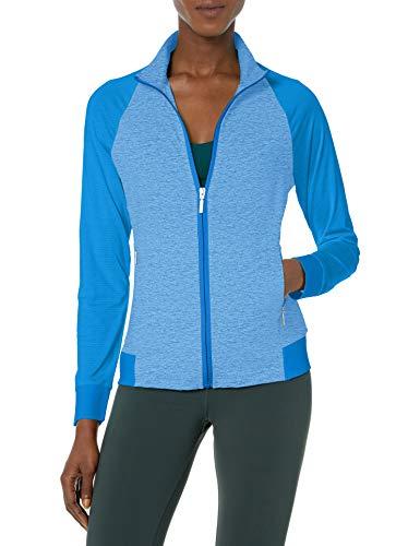 Cutter & Buck Women's Moisture Wicking, UPF 50+, Long-Sleeve Lena Full Zip Jacket, Vista, S