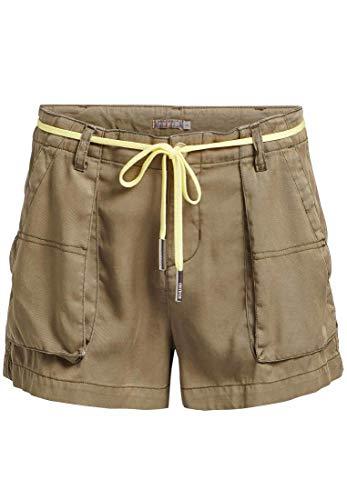 khujo Damen Shorts Shae weiches Material Kurze Hose mit Gürtelschlaufen Hotpants