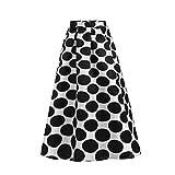 Sylar Faldas Largas Bohemias Faldas Plisadas Mujer Estampado De Lunares Falda De Línea A Cintura Alta Falda Larga Mujer Verano