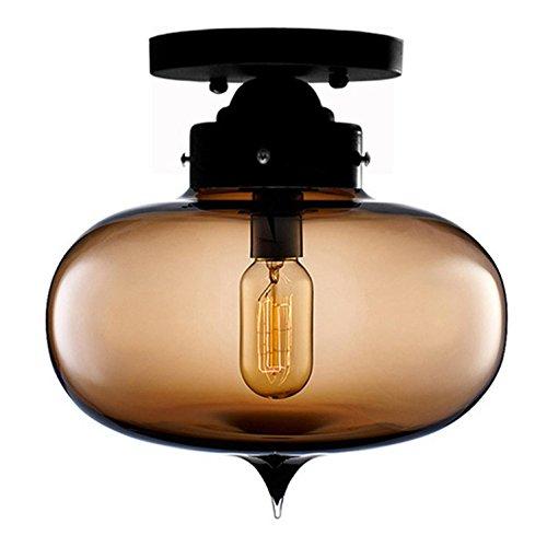 AMZH Lámpara de Techo de Vidrio de Color Creativa Moderna Creativa con iluminación de la bóveda de Cristal Cuarto de baño Pasillo Luces de Porche Balcón lámpara de Techo E27 110V 220V, a