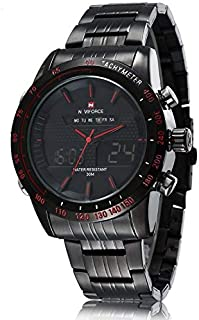 Naviforce for Men Analog-Digital Stainless Steel Watch