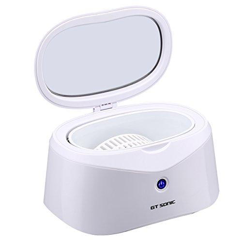 Ultraschallreiniger 600ml Ultraschallreinigungsgerät Edelstahl Ultraschallbad Ultrasonic Cleaner für Brillen Zahnprothesen mit Uhrenhalter und Korb
