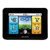 AcuRite 02077 Color Weather Station Forecaster with Temperature, Humidity, (02077M), Black