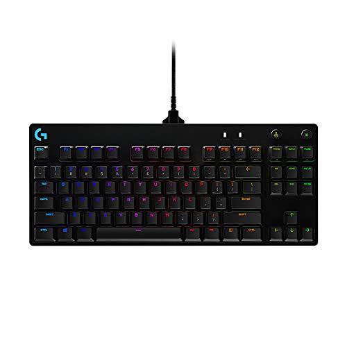 Logitech G - Teclado mecánico G Pro para Gaming, diseño sin Teclado numérico ultraportátil, Cable Micro USB extraíble, Teclas retroiluminadas RGB LIGHTSYNC con 16,8 Millones de Colores