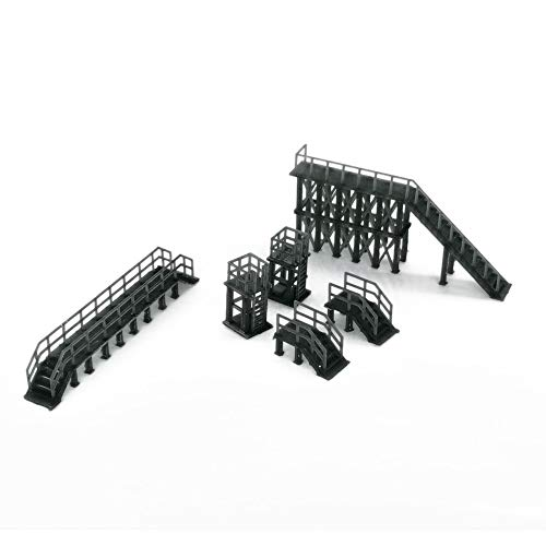 Outland Models Railroad Scenery Industrial Platform & Stairs Set 1:160 N Scale