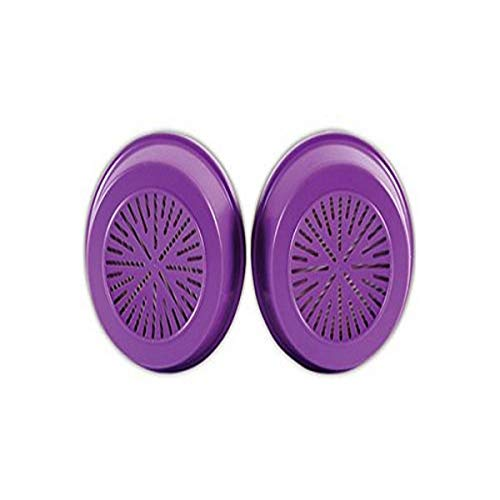 Honeywell 75SCP100L North 75SCP100 Combination Gas and Vapor Cartridge with P100 Particulate Filter, Purple (Pack of 2)