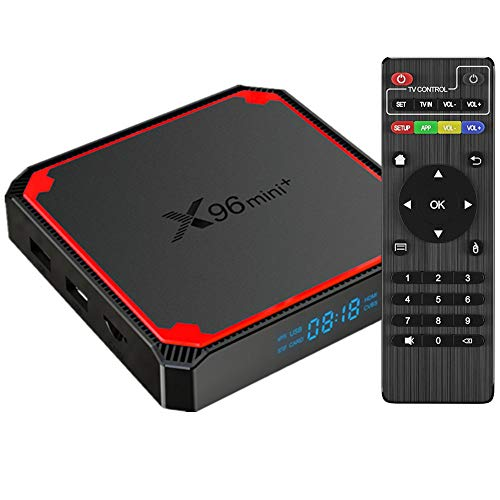 Sofobod X96 Mini+ Android 9.0 TV Box, Amlogic S905W4 Quad Core ARM Cortex A53 CPU, Penta-core Mali-450MP GPU, 2GB RAM 16GB ROM 2.4G/5G dual WiFi, H.265 Decoding HD 4K Set Top Box