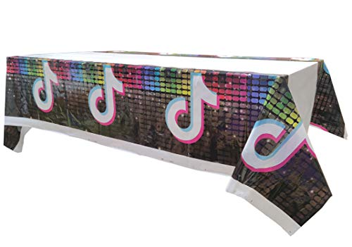 Disco Party Tablecloth,70' x 42',Disposable Table Cover for Birthday,Disco Music Party Supplies Decoration and Favors Perfect for Music Party (3 Pack)