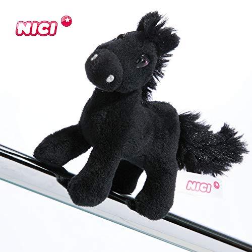 NICI Magnettier Pferd Black Cassis 12 cm – Magnet-Plüschtier Pferd – Kuscheltier mit Magnet – Stofftier Pferd – Magnettiere Plüsch NICI für Kühlschrank, Tafel, Metall – Magnet-Pferd – 44894