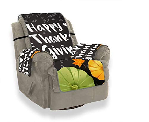 "MBVFD Thanksgiving Day Best Harvest Slipcover for Recliner Chair Upholstered Chair Slipcover Seccional Sofa Covers for 21"" Sofa Protect from Kids, Dogs and Pets"