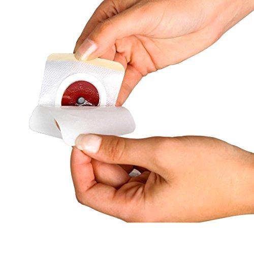 Pflaster mit Magnet, 10 Stück, Fettverbrenunng Patch, Schlankheitspflaster, Fettverbrennung, Aktivierungspflaster, Vlies, 6 x 7 cm