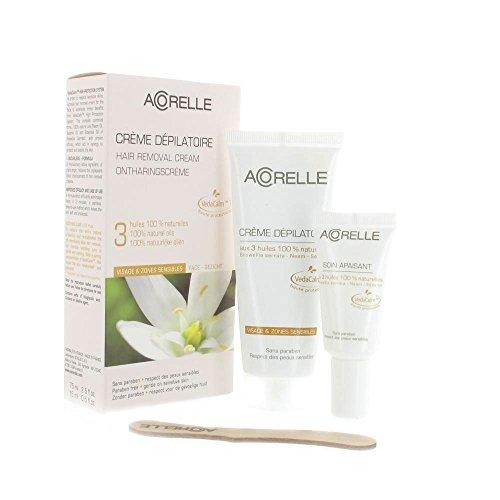 Acorelle Crème Dépilatoire Visage & Zones Sensibles 75 ml