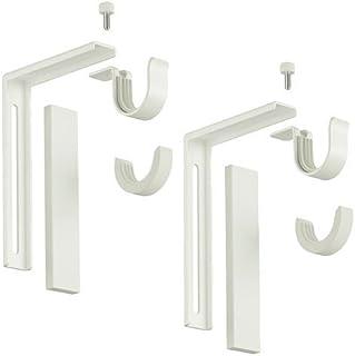 comprar comparacion Ikea - Soporte para barra de cortina (2 unidades), color blanco