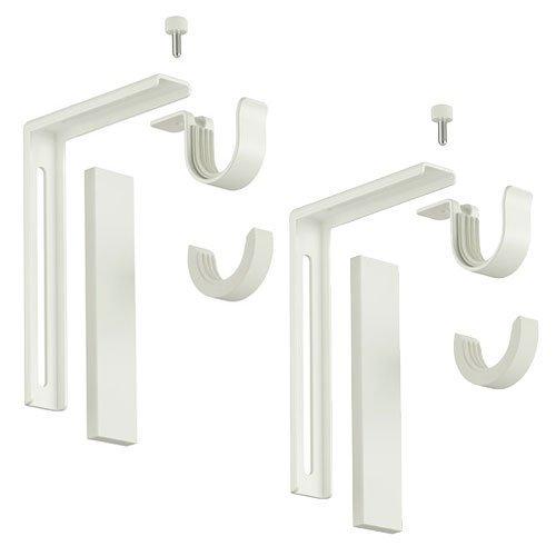 Ikea Soporte para barra de cortina, 2 unidades, acero blanco
