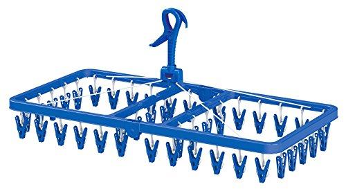 東和産業 洗濯ハンガー BC ジャンボ角ハンガー ピンチ42個付 ブルー 20055 36.5×37.5×5cm