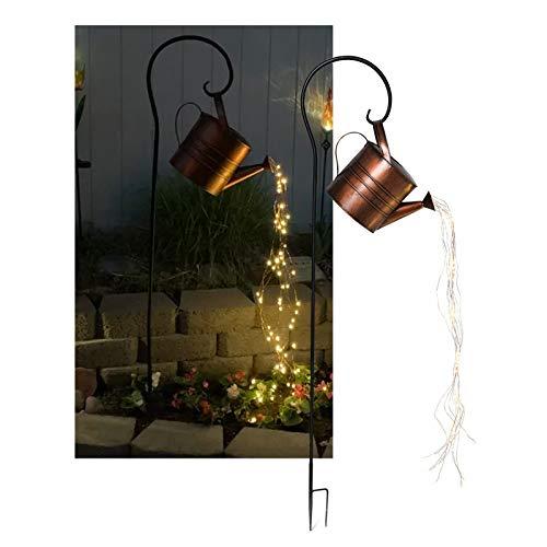 Stern Dusche Garten Kunst Lichtdekoration, Gartenkunst Gießkanne Dekoration Licht mit LED Waterfall Licht für den Außenbereich Garten, wasserdichte Gartengewinne Fairy Lights Dekoration