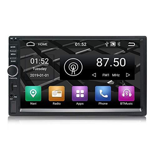 Panlelo S1 Android 9.0 2 DIN Universal 7 Pulgadas Autoradio Pantalla Táctil Navegación GPS Am FM RDS 1080P HD Quad Core 16G Reproductor de Audio del Coche WiFi Bluetooth Control del Volante