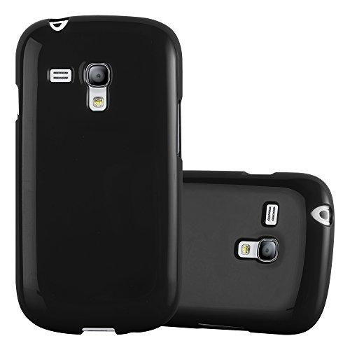 Cadorabo Hülle für Samsung Galaxy S3 Mini - Hülle in Jelly SCHWARZ – Handyhülle aus TPU Silikon im Jelly Design - Silikonhülle Schutzhülle Ultra Slim Soft Back Cover Case Bumper