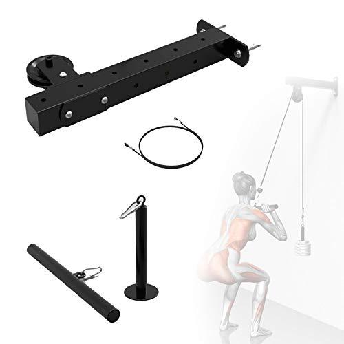 SCXLF DIY Polea Cable Máquina Sistema De Fijación, Equipo De Musculacion Entrenamiento con Pasador De Carga para En Casa, Garaje O Gimnasio