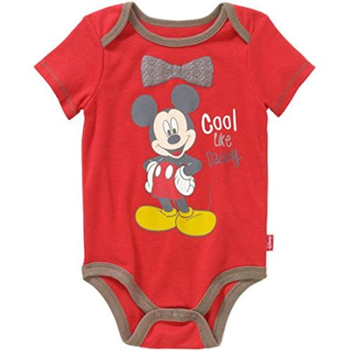 Disney - Body para bebé con pajarita de Mickey Mouse Cool Like Daddy - Rojo - 3-6 meses