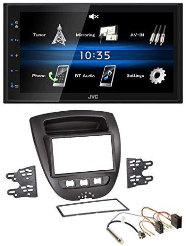 caraudio24 JVC KW-M24BT 2DIN Bluetooth MP3 AUX USB Autoradio für Peugeot 107 Citroen C1 Toyota Aygo 05-14 ISO