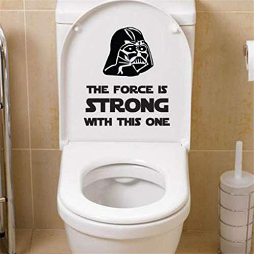 Star Wars WC Wandtattoos Aufkleber Dekor Home Badezimmer Dekoration Schwarz für Toilette Waschraum