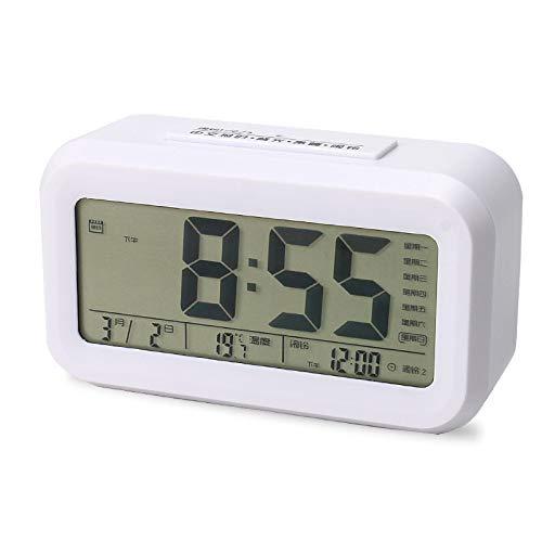 AMTN Alarma, cronometraje por Voz, Cargando, Tres alarmas, Pantalla Digital, LED Mudo, repetición, Reloj electrónico